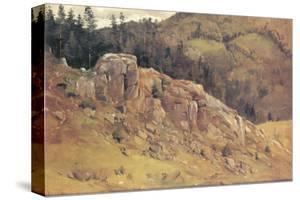 Study near Bernau in the Black Forest by Eugen Bracht