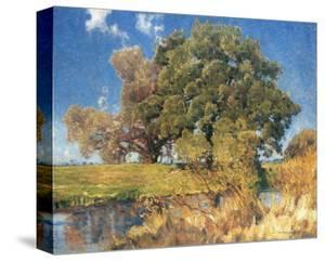 Trees near Water by Eugen Bracht