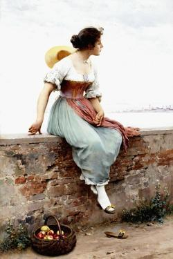 A Pensive Moment, 1896 by Eugen Von Blaas