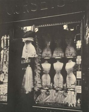 Lingerie Shop, Boulevard de Strasbourg Paris, 1912 by Eugene Atget