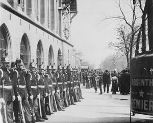 Paris, 1898-1900 - Republican Guards in front of the Palais de Justice by Eugene Atget
