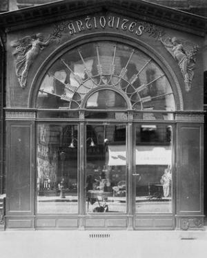 Paris, 1902 - Antique Store, rue du Faubourg-Saint-Honore by Eugene Atget