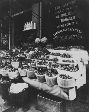 Paris, 1908-1912 - Produce Display, rue Sainte-Opportune by Eugene Atget