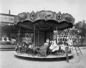 Paris, 1923 - Fete du Travail, Street Fair by Eugene Atget