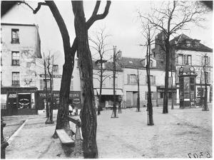 Place Du Tertre, Montmartre, Paris, c.1900-20 by Eugene Atget