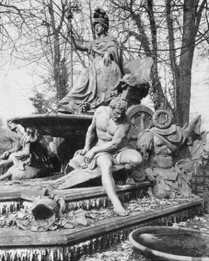 Versailles, 1904 - France Triumphant by Jean-Baptiste Tuby by Eugene Atget