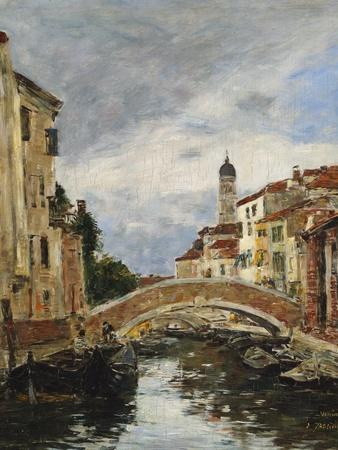 A Small Venetian Canal; Petit Canal a Venise