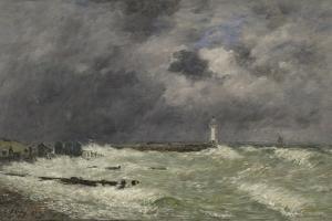 Coup de vent à Frascati, Le Havre by Eugène Boudin