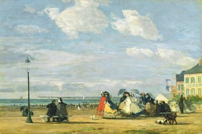 Empress Eugenie (1826-1920) at Trouville, 1863