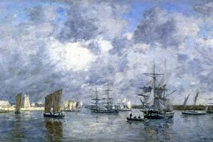 Port de Camaret by Eugène Boudin