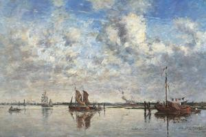 Port of Rotterdam by Eugène Boudin