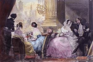 Scene from in Summer in Paris by Jules Janin, 1844 by Eugène Boudin