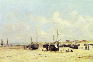 The Beach at Low Tide, Berck, 1890-97 by Eugène Boudin