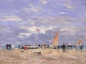 The Jetty at Deauville, 1869 by Eugène Boudin