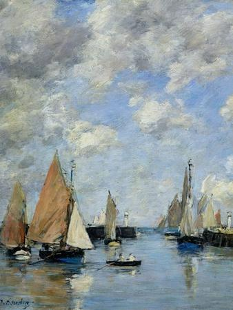The Jetty at High Tide, Trouville