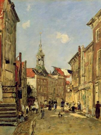 The Rue De Dordrecht, 1884 by Eugène Boudin