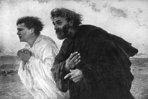 The Apostles Peter and John on the Morning of the Resurrection, 1926 by Eugene Burnand