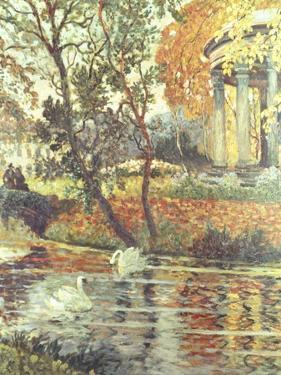 Walk by the River on an Autumn Day by Eugene Chigot