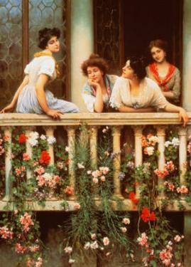 The Balcony by Eugene de Blaas
