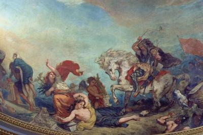Attila the Hun, Followed by His Barbarian Hordes, Trampling Italy and the Arts Underfoot