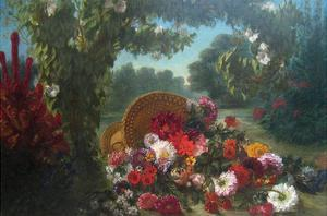 Basket of Flowers by Eugene Delacroix