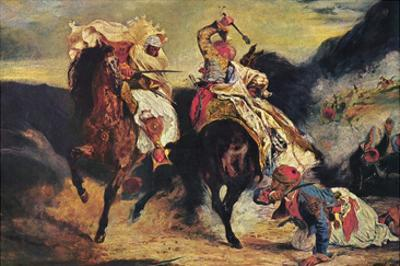 Combat of the Giaour and the Pasha by Eugene Delacroix