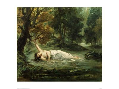 Death of Ophelia, 1859 by Eugene Delacroix