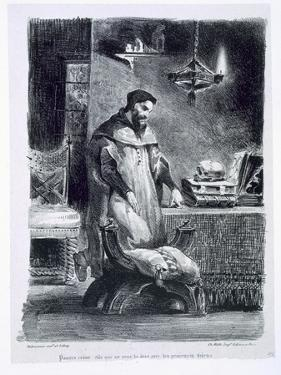 Faust in His Study, from Goethe's Faust, 1828 by Eugene Delacroix
