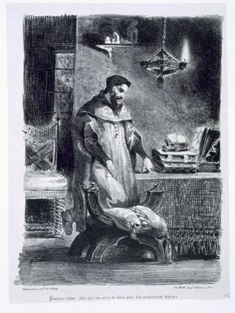 Faust in His Study, from Goethe's Faust, 1828