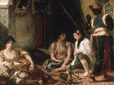 Femmes D'Alger Dans Leur Appartement (Women of Algiers in their Apartment) C. 1834