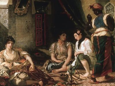 Femmes D'Alger Dans Leur Appartement (Women of Algiers in their Apartment) C. 1834 by Eugene Delacroix