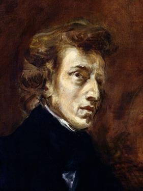 Frederic Chopin (1810-49) 1838 by Eugene Delacroix