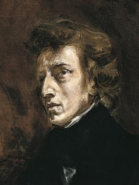 Frédéric Chopin by Eugene Delacroix