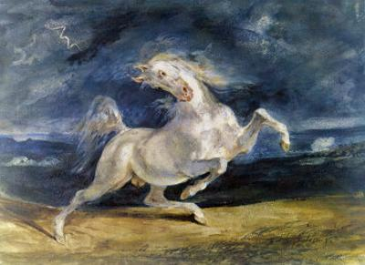 Frightened Horse by Eugene Delacroix