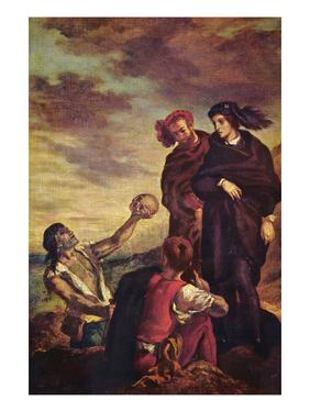Hamlet and Horatio in a Graveyard by Eugene Delacroix