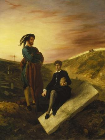 Hamlet and Horatio in the Cemetery, 1835 by Eugene Delacroix