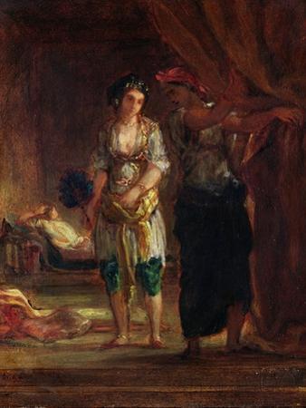 Interior of a Harem in Oran, c.1847 by Eugene Delacroix
