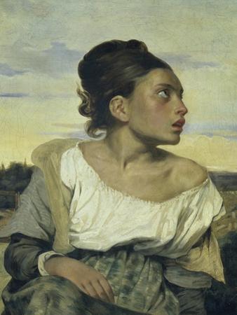Jeune Orpheline au Cimetiere by Eugene Delacroix