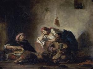 Jewish Musicians of Mogador by Eugene Delacroix