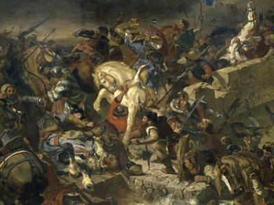 La Bataille de Taillebourg by Eugene Delacroix
