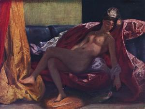'La femme au perroquet', 1827, (1937) by Eugene Delacroix