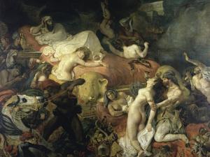 La Mort de Sardanapale by Eugene Delacroix