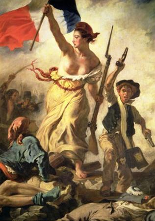 Liberty Leading the People, 28 July 1830 (Detail) by Eugene Delacroix