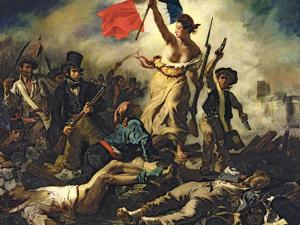 Liberty Leading the People, 28 July 1830 by Eugene Delacroix