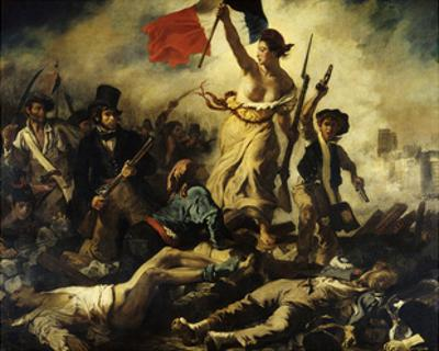Liberty Leading the People, July 28, 1830 by Eugene Delacroix