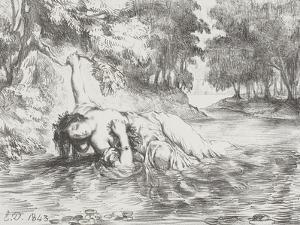 Ophelia's Death, 1843 by Eugene Delacroix