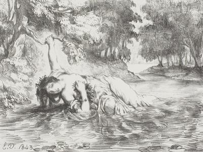 Ophelia's Death, 1843 by Eugene Delacroix