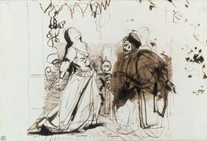 Othello and Desdemona by Eugene Delacroix