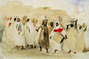 Procession of Musicians in Tangier by Eugene Delacroix