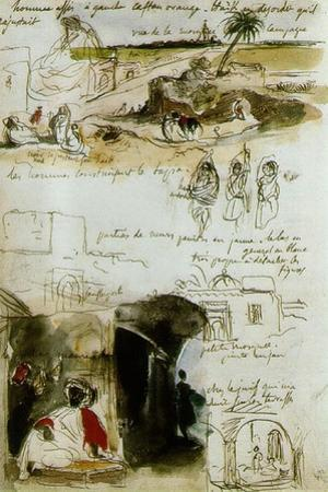 Sketchbook from Morocco, 1832 by Eugene Delacroix